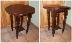 Astuoniakampis antikvarinis stalas. Kaina 37