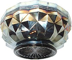 Heavy 'Banded' Diamonds bowl