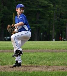 James pitching