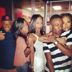 Satchel, JDenelle, Aaliyah, Victor & Demetria McKinney Celebrating Dee Dee's Birthday At BarOne on August 25, 2013