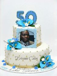 Blue and White 50th Birthday