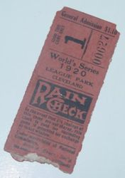 1920 World Series Ticket Stub