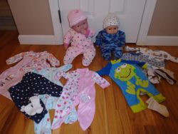 Soft Bodied Baby Doll with 5 sets of Real Baby Clothes - $25