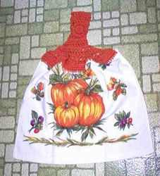 Harvest Pumpkins Kitchen Towel