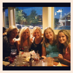 Dinner with some of my Small Group girls!! Love these girls!