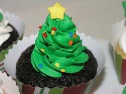 Chrismas Tree Cupcake