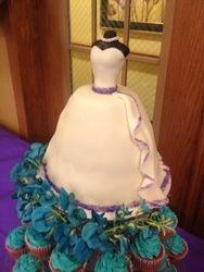 Bridal Shower Cake Cupcake Tower