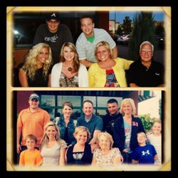 The same bench but 3 years apart when each grandparent was in ICU