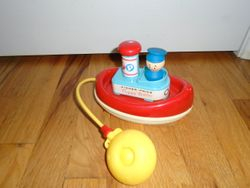 Fisher Price Tuggy Tooter Toy - $9