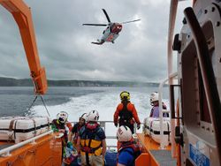 Portrush RNLI assist with rescue of man who had fallen near Dunluce Castle