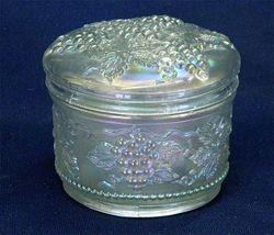 Vintage powder bowl, white