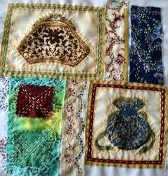 Lesley's Kantha stitching