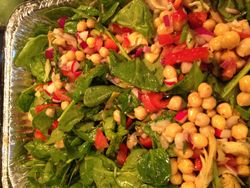 Chick pea and Spinach Salad