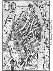 Map of the Town of Galway in 1651
