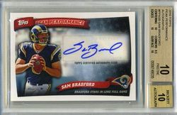 2010 Topps Peak Performance Auto SAM BRADFORD ROOKIE CARD  BGS 10