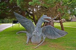 Dragon at entrance of Lough Eske Castle near Donegal