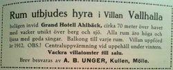 Villa Valhalla 1915