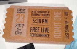 Event Ticket Die Cut