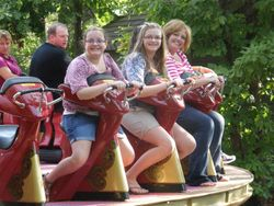 Cindy, Shelby, and Kylie doing a little riding