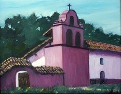 La Purisima Mission, Lompoc (original in oil)