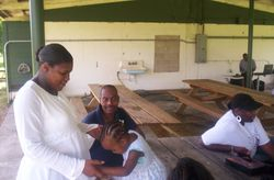 Getting Ready for Baptism Service