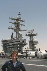 Lt. Carney at Sea