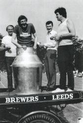 BEER CHURN  WEST WOOD LEEDS 18TH JUNE 1983