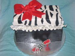 Zebra Shoe Box Cake