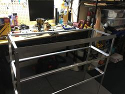 Up Fit Shelving made from scratch