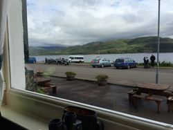Applecross pub (view from)
