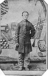 E. Long, photographer of Benton Barracks, St. Louis, Missouri