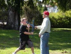 BBEAE Club junior training with the Grandmaster