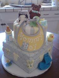 Onsies and Bib Baby Shower Cake