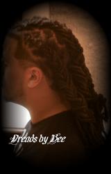 Dreads braided into 4 braids
