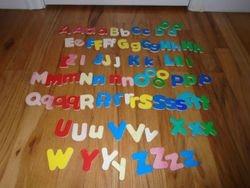 Wooden Alphabet Magnets- 85 - $7