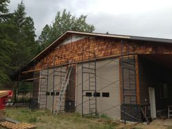 shop with hardi siding/cedar shingles