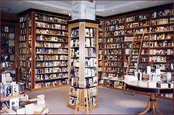 Librairie de bois, bibliothèque