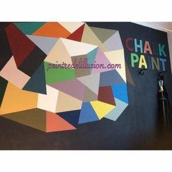 Mur peint Atelier loft- Peintre de L'illusion