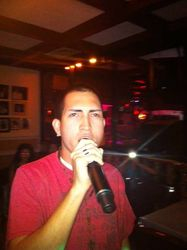 Benjamin Jr. made it a family affair at Joe's Place Friday Night Karaoke Fiesta!