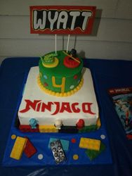 Ninjago Stacked Cake