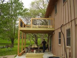 Replaced and built a new deck