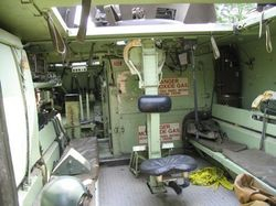 The M-113's interior: