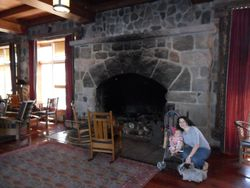 Inside the Crater Lake Lodge