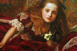 Millais, Leisure Hours, detail, Detroit