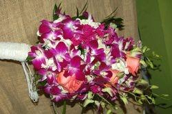 Cascading Tropical Bridal Bouquet
