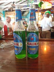 Green beer for St Patricks Day in Staniel Cay
