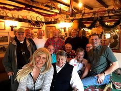 Sarah Bridges, Wayne Bridges, Ian Muir, Mel Stuart, Bobby Barnes, Steve Grey, Johnny Kidd,Lee Bronson, Frank Rimer, Johnny Kincaid, Mal Sanders, Keith Haward, Bobby Stafford in the beautiful Bridges Pub.