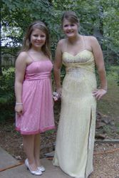 Marie and Rici, her friend from Germany, ready for prom!