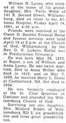 Lyons, William H. 1961