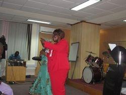Rev Stella Ebegbuna preaching